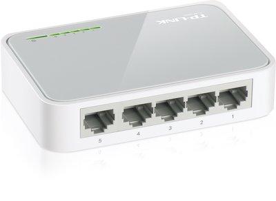TP-Link TL-SF1005D 5 Poorts Mini Netwerk Switch 10/100Mbps