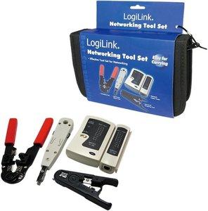 LogiLink Netwerk Tool-Kit incl. Tas - 4 delig