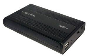 "3.5"" LogiLink Enclosure USB2.0 / IDE / Zwart Aluminium"