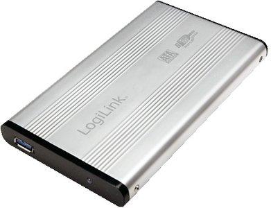 "2.5"" Logilink Enclosure USB3.0 / SATA / Zilver"