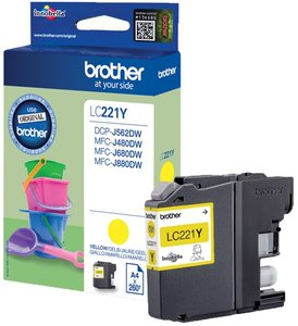 Brother LC-221Y Geel 3,9ml (Origineel)