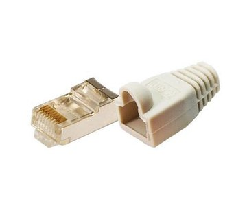 Patchstekker RJ45 Cat5e Shielded 100st LogiLink Grij