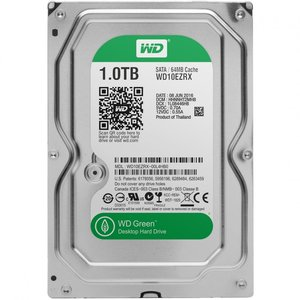 1,0TB WD Green SATA3/64MB/5400rpm Factory recertified