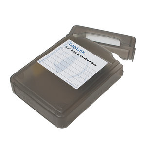 "1x3,5"" HDD Protection Box LogiLink Zwart"