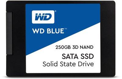 """250GB 2,5"""" SATA3 WD Blue 3D/TLC/550/525 Retail"""