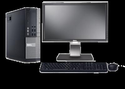 Computer set Dell Optiplex 990 i3 240GB SSD Windows 10 Pro + 22 inch Dell P2210F monitor
