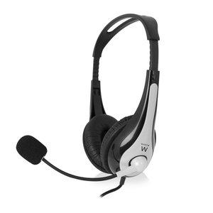 Ewent EW 3562 Stereo headset met microfoon en volumeregeling